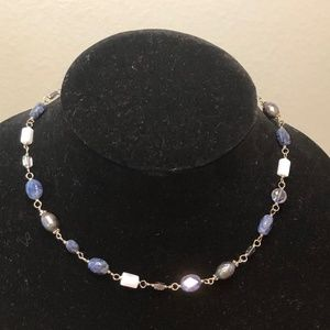 Silpada Blue lace Chalcedony Necklace -N1308